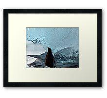 Penguin Ice Framed Print