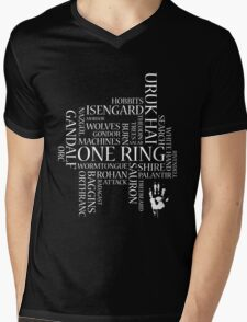 Saruman's Word Cloud Mens V-Neck T-Shirt