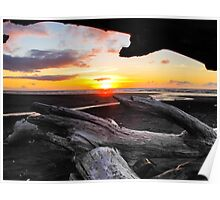 driftwood in the sunset Poster