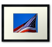 The Stars and Stripes on Spacious Skies Framed Print