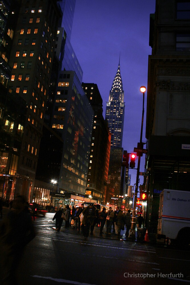 New York - Chrysler Building View by Christopher Herrfurth