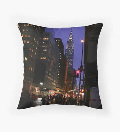 New York - Chrysler Building View Throw Pillow