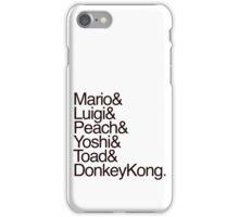 Mario + Co. List Shirt (Black Text) iPhone Case/Skin