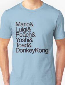 Mario + Co. List Shirt (Black Text) Unisex T-Shirt