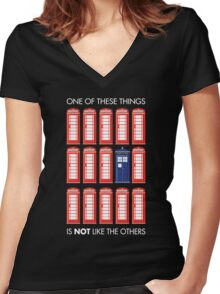 One of These Things Women's Fitted V-Neck T-Shirt
