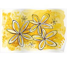 Sunny yellow daisies Poster