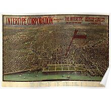 Panoramic Maps Chicago central business section Poster