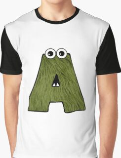 Monster Letter A Graphic T-Shirt