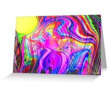 Within a rainbow Trance Greeting Card