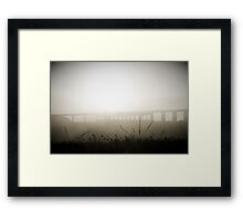 Bridge in Fog Framed Print