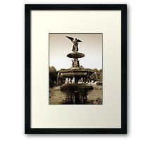 Bethesda Fountain Framed Print