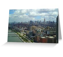 Walkway/Highway along Hudson River NYC Greeting Card