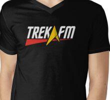 Trek.fm Logo (Dark) Mens V-Neck T-Shirt