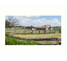 farm fences Art Print