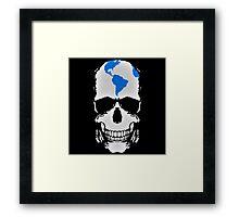 Globe Skull Framed Print