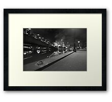 Yarra Bank Monochrome Framed Print
