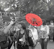 The Red Parasol by Bernadette Claffey
