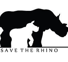 Save The Rhino (White Background) by thekohakudragon