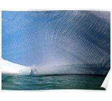 Iceberg pattern , Antarctica Poster