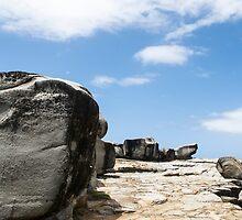 large block of rock by Anne Scantlebury