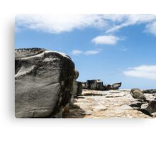 large block of rock Canvas Print