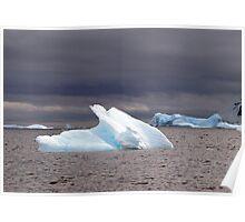 Icebergs , Antarctica Poster