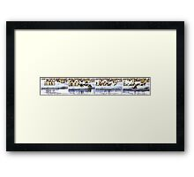 Emperor Penguins Going Fishing Sequence Framed Print