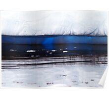 luminous iceberg, Antarctica Poster
