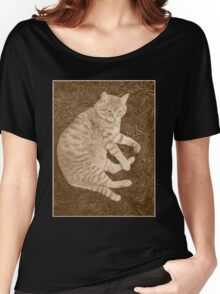 Fat Cat In the Grass Women's Relaxed Fit T-Shirt