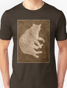 Fat Cat In the Grass T-Shirt