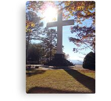 GLOWING CROSS Canvas Print
