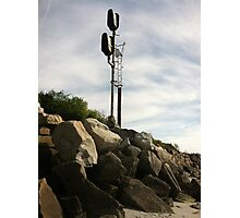 Railroad signal Photographic Print