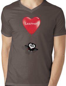 LEARNER! Mens V-Neck T-Shirt