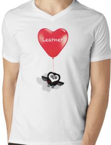 LEARNER! Mens V-Neck T-Shirt