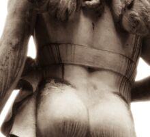 grecian angel in the garden of time Sticker