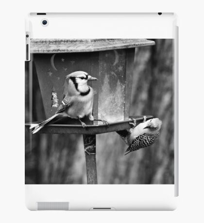 Captain Blue Jay at your service iPad Case/Skin