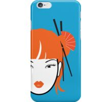 Girl with Orange Hair iPhone Cover iPhone Case/Skin