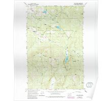 USGS Topo Map Washington State WA Cliff Ridge 240574 1964 24000 Poster