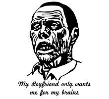 Zombie Boyfriend Photographic Print