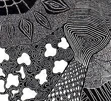 abstract pen doodle by rebeccah fries