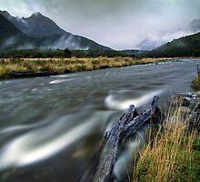 The Misty Mountains - Cascade Creek  by Michael Treloar