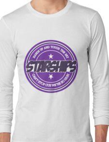 Nicki Minaj - Starships Old School Sticker Long Sleeve T-Shirt