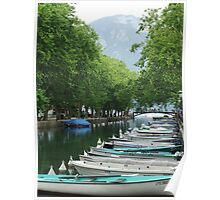 Annecy Canal Poster