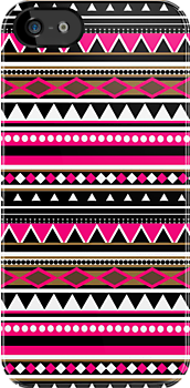 Pink Aztec Pattern iPhone &amp; iPod Case by sirmaverick