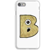 Monster Letter B iPhone Case/Skin