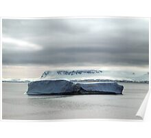 Iceberg off Danco Island , Antarctica Poster