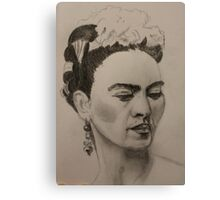 Frida Kahlo Ribbon and Flowers Canvas Print