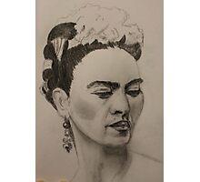 Frida Kahlo Ribbon and Flowers Photographic Print