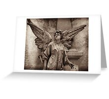 victorian angel with trumpet Greeting Card