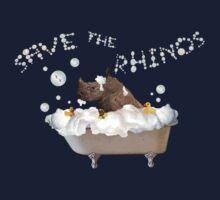 Splish Splash, Rhino Taking a Bath! One Piece - Short Sleeve